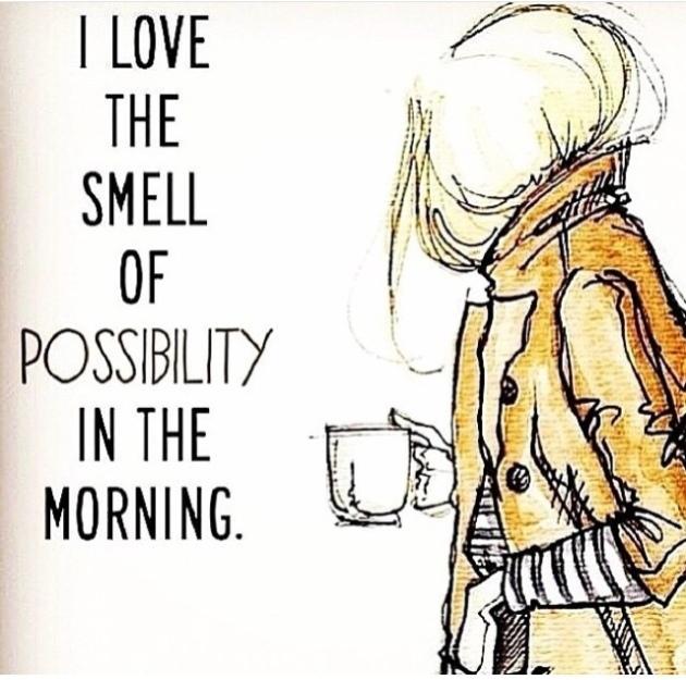 adoro o cheiro da manha