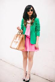 Verde e rosa look3
